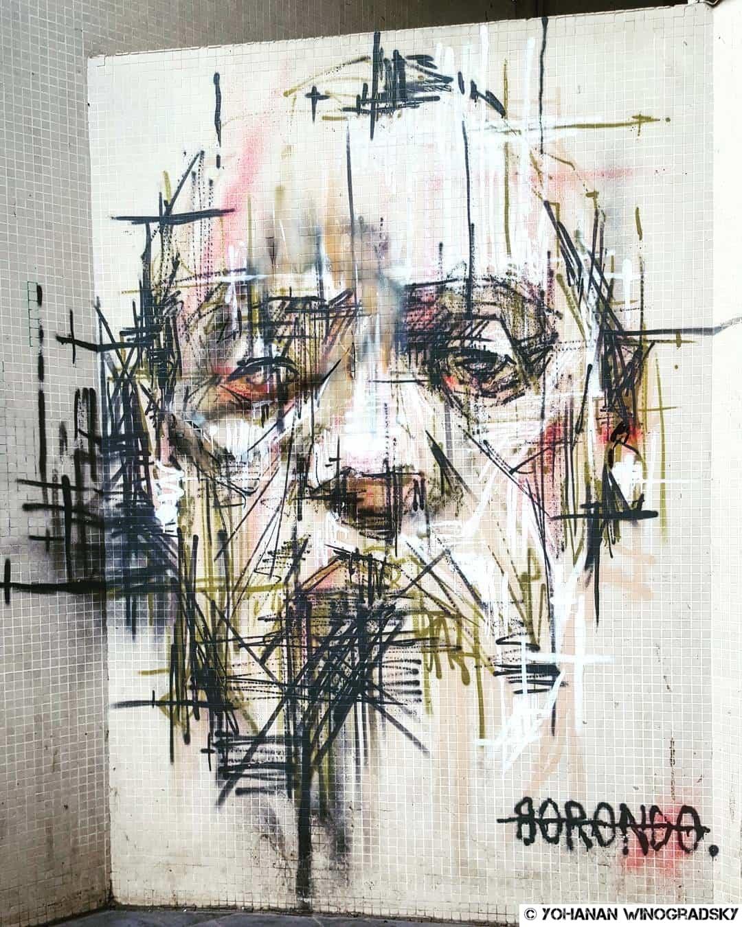borondo street art vitry sur seine