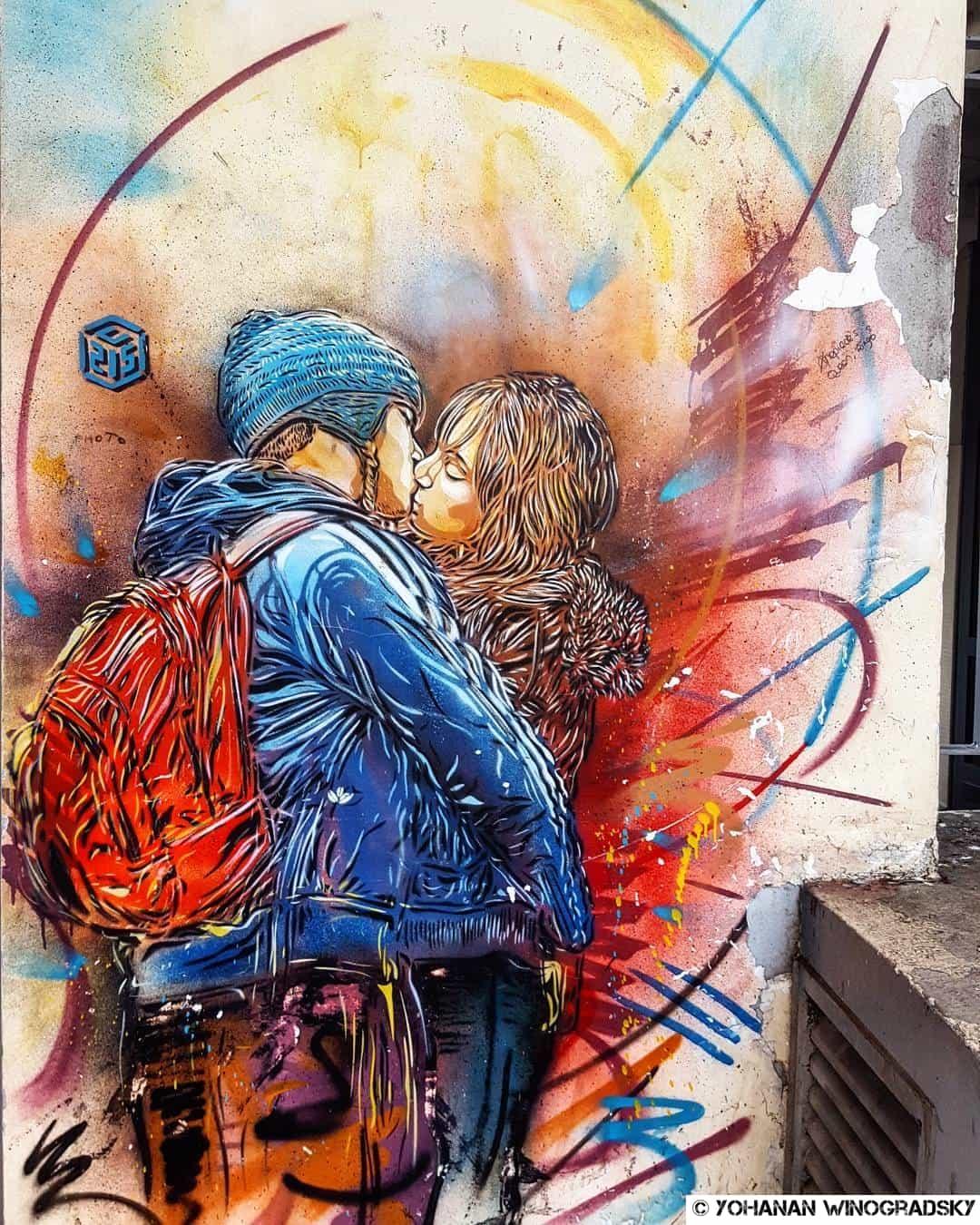 le baiser par c215 street art vitry sur seine