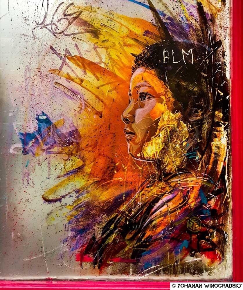 jeune garçon par c215 street art londres