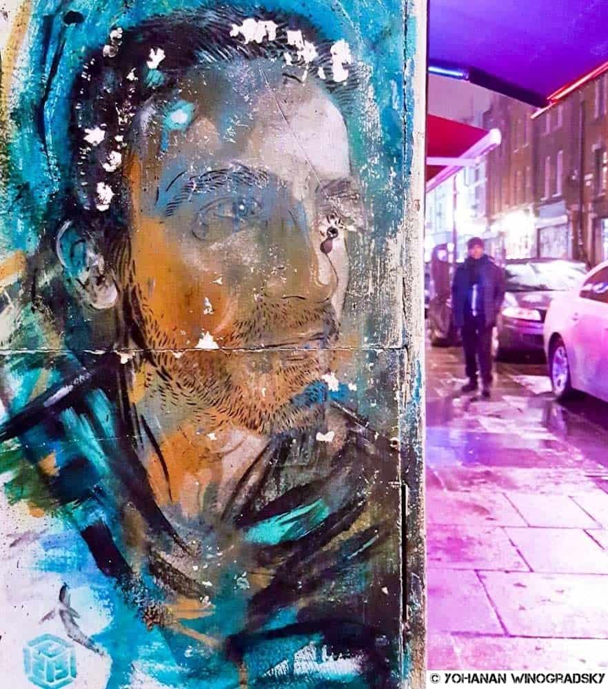 Disparition – Street art de c215, Londres