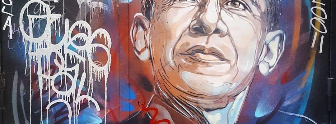 Barack Obama – Street art de c215, Paris