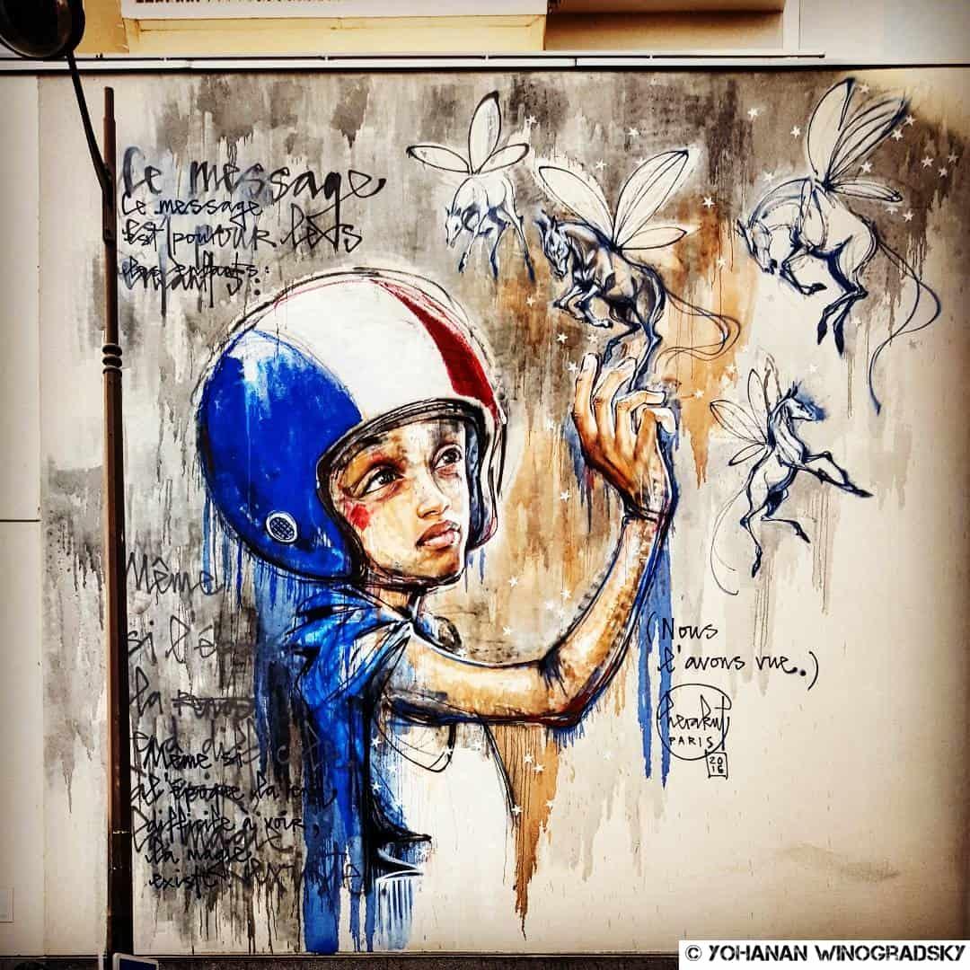 mur d'herakut street art paris