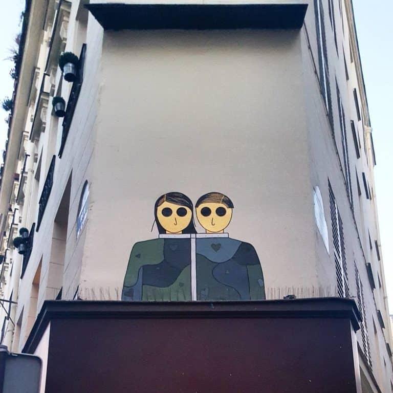 Le designer d'intérieur – Street art par Kam & Laurène, Paris