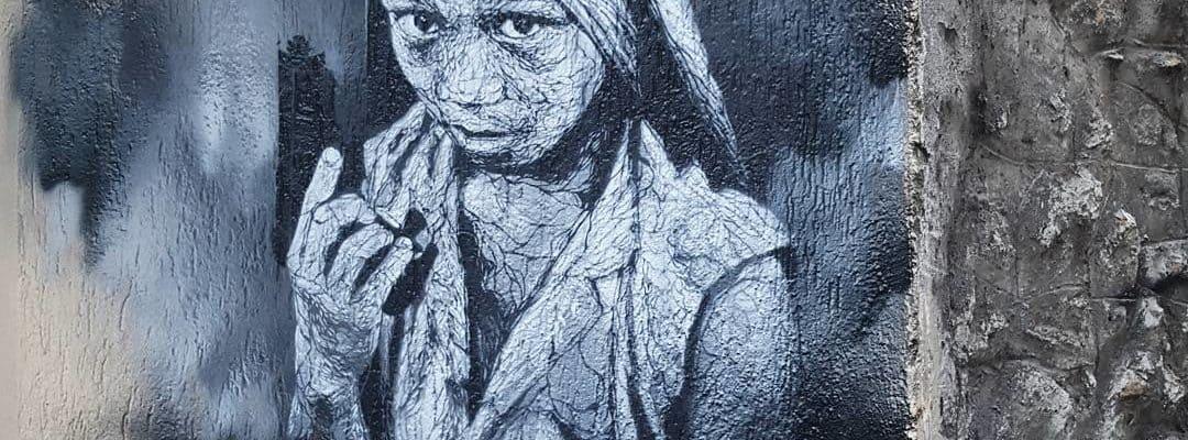 Enfants soldats, hommage à Steve Mccurry – Street art de Nasti404, Paris
