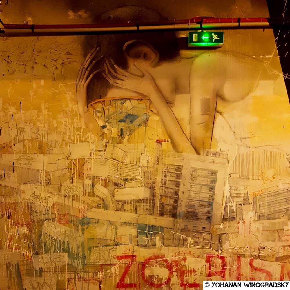 seth globalpainter et zoerism street art paris au palais de tokyo