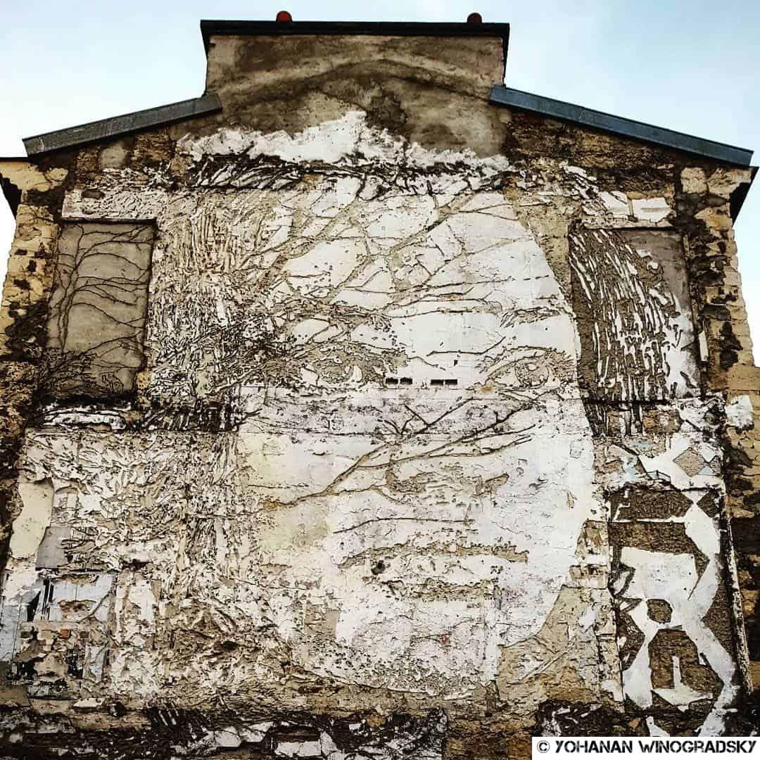 Témoignages d'enfants hospitalisés – Street art de Vhils, Paris