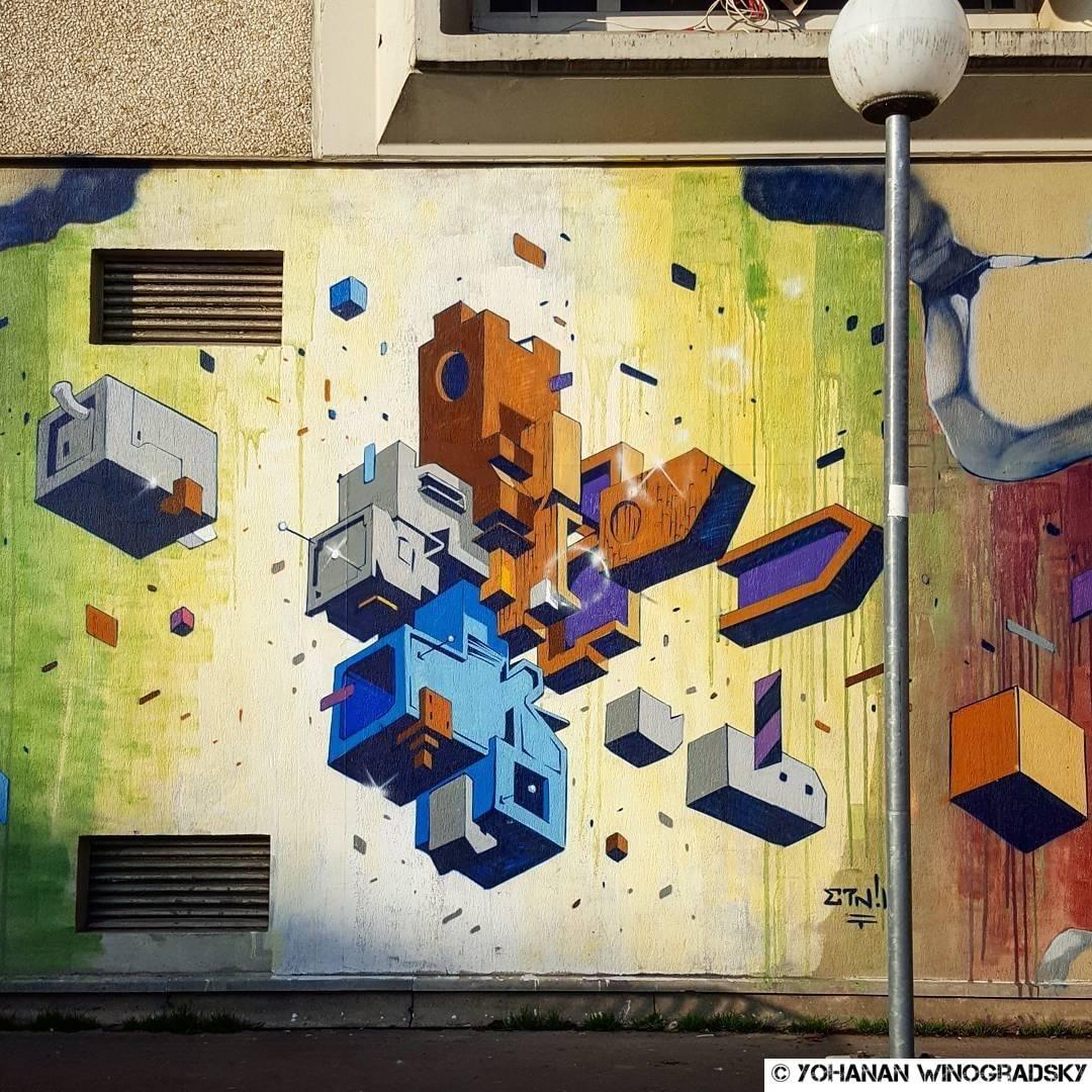Traitrise – Street art d'Alessandro Etnik, Vitry-sur-Seine