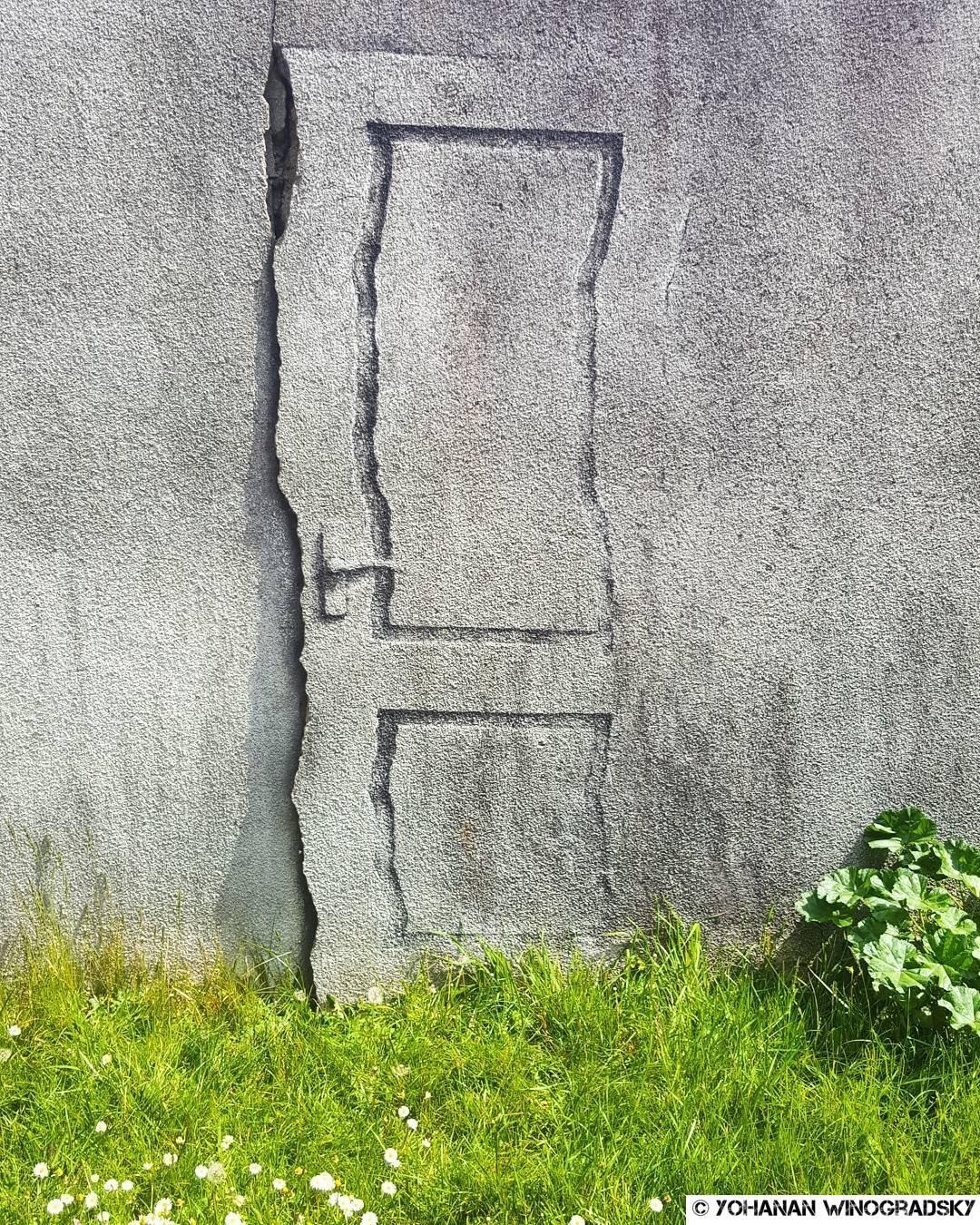 la porte de pejac street art à vitry sur seine