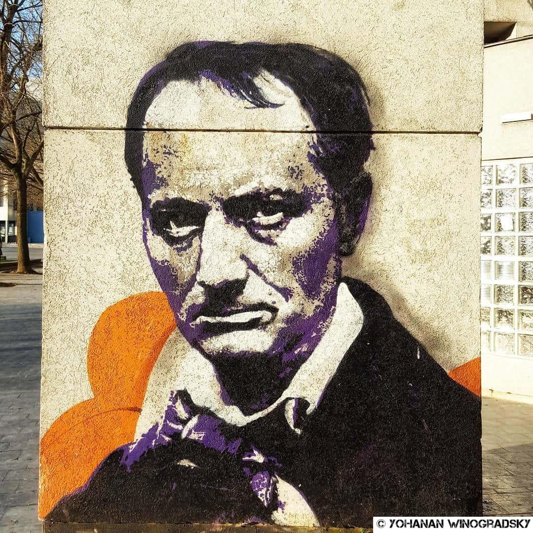 streetart vitry sur seine baudelaire par orticanoodles
