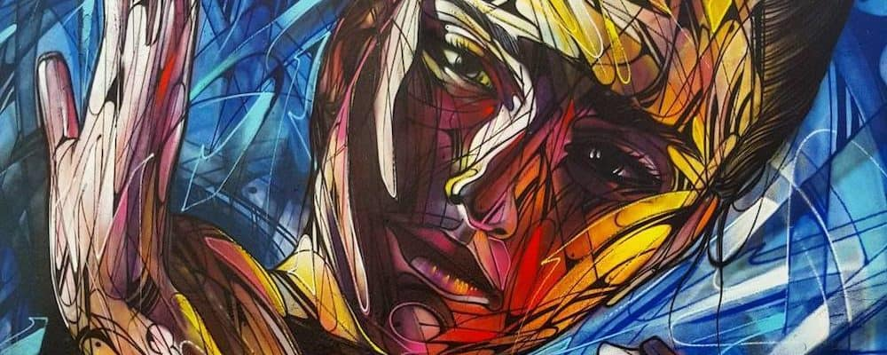 La fin d'Ichirô – Street art d'Hopare pour Ourcq Living Colors, Paris