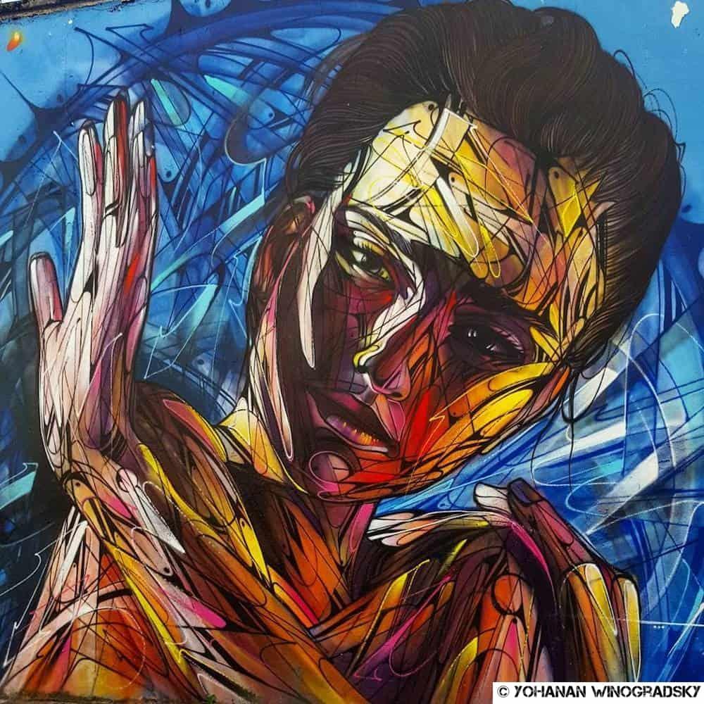 streetart d'hopare à paris rue germaine taillefer pour ourcq living colors