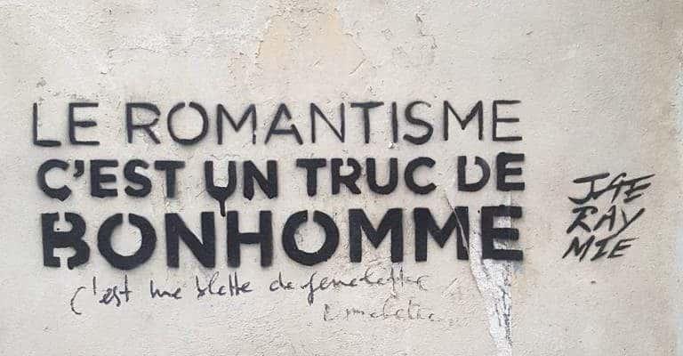 Vie de Romantisme Truc de Bonhomme – Street art par Jaeraymie, Paris