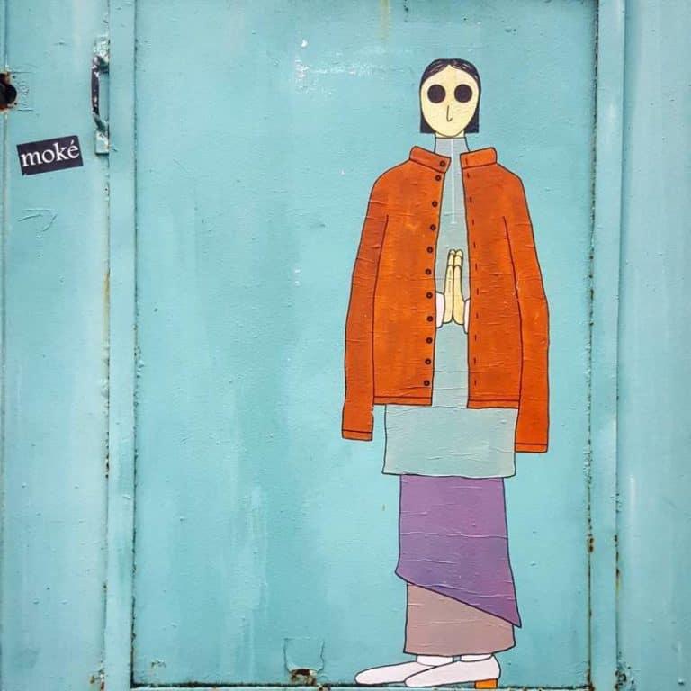 Soucis sous cieux – Street art par Kam & Laurène, Paris