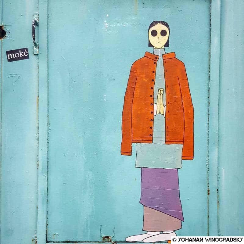 streetart par kamlaurene à paris