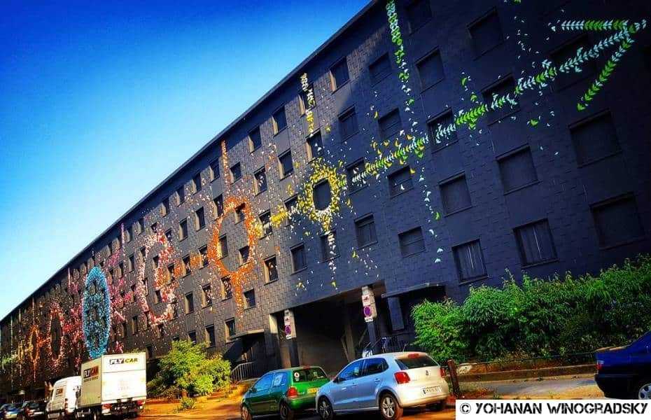 street art par mademoiselle maurice origamis