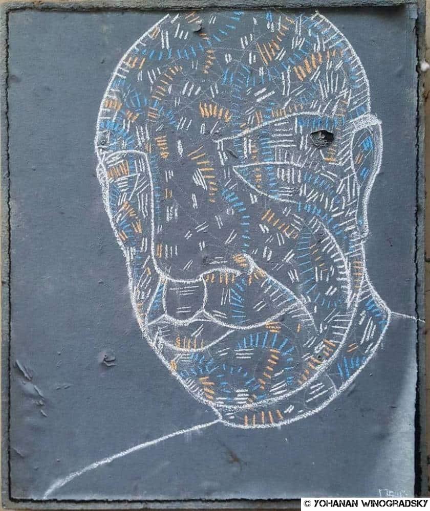 street art matthieu craie l'homme zen rue de montmorency