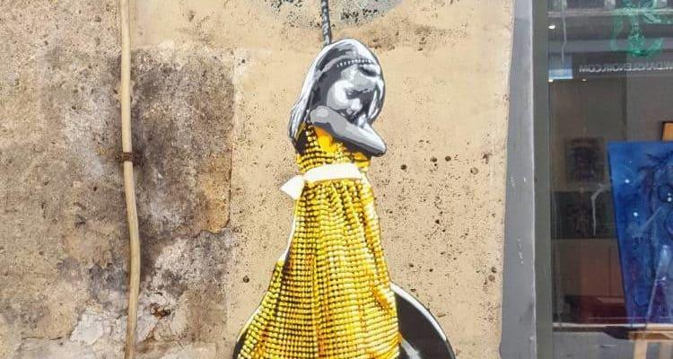 Le cadeau d'anniversaire – Street art par PolarBear Stencils, Paris