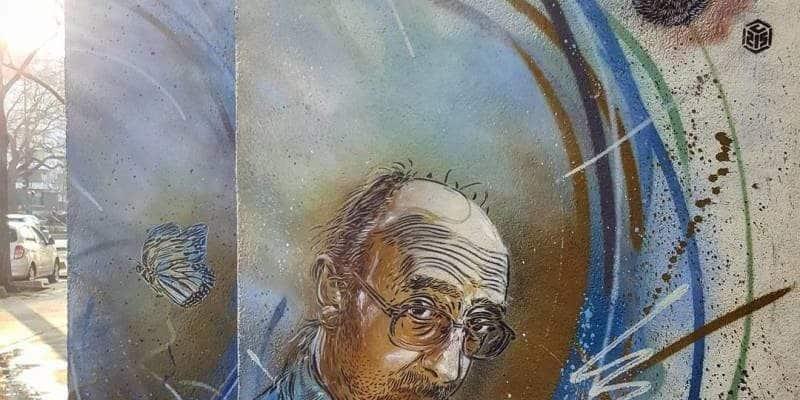L'envolée du chat – Street art par c215, Vitry-sur-Seine