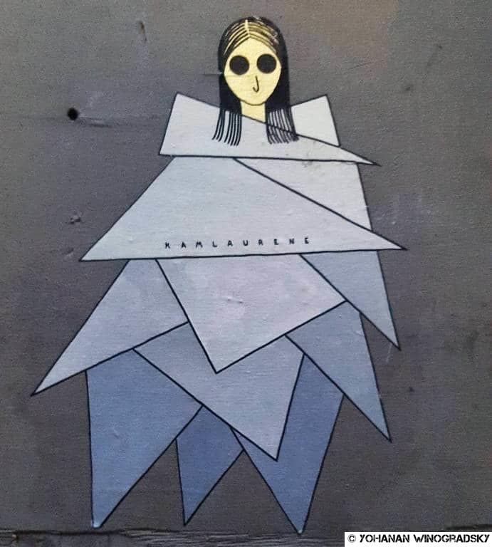 streetart à paris par kam & laurène au cabinet d'amateur