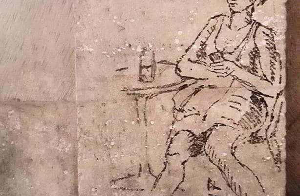 La fille en pense-errance – Street art à la station Faidherbe-Chaligny, Paris