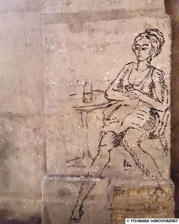 streetart faidherbe chaligny dessin paris femme en pense-errance
