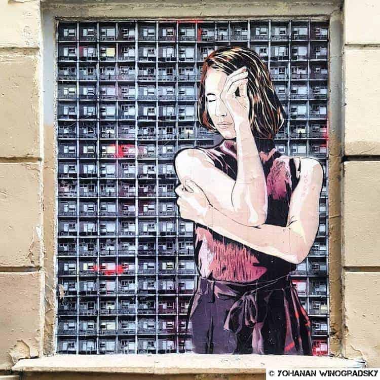 street art par jana & js passage de montmartre