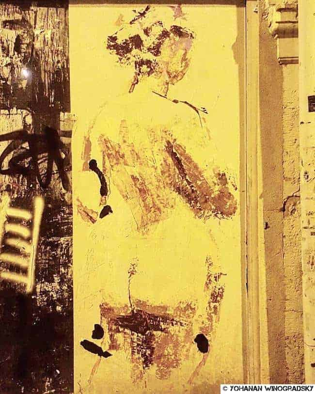 streetart paris rue de tourtille 20è arrondissement femme nue