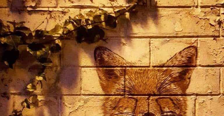 La visite du Renard – Streetart par Smile à la Butte aux Cailles, Paris