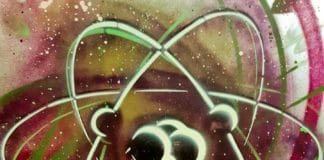 streetart par c215 musée curie atome