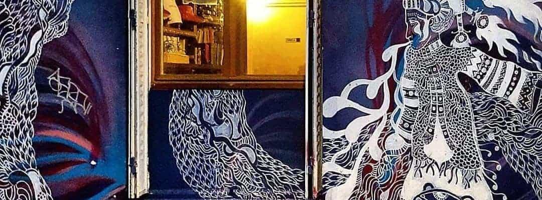 La langue des fantômes – Street art par Claire Courdavault, Paris