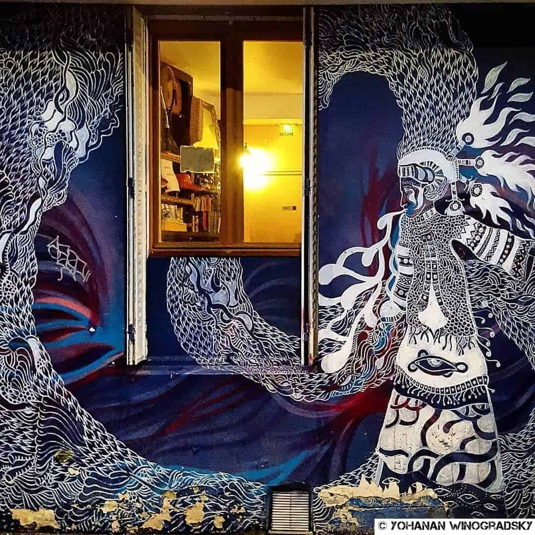 streetart par claire courdavault rue des maronites