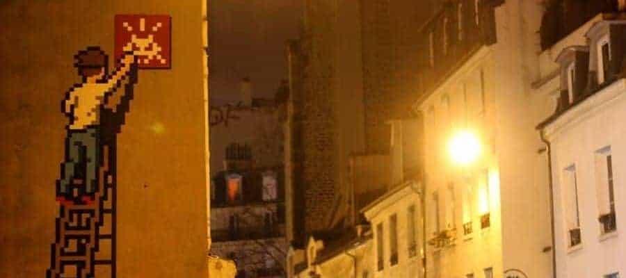 Cristina Cordula meets Invader – Streetart par Invader, Paris
