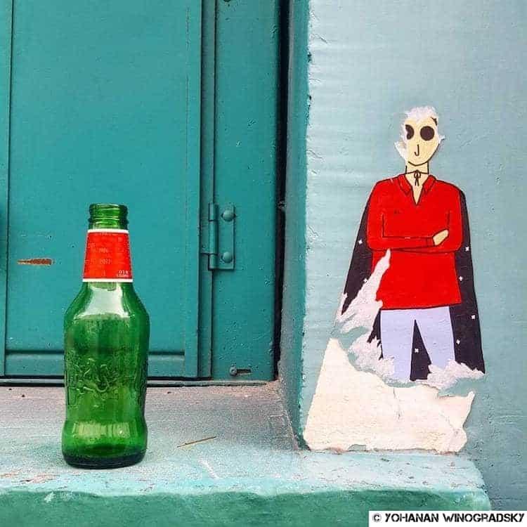 streetart par kam & laurene à la butte aux cailles paris
