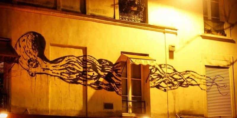 Fantôme sous-marin – Streetart par Kraken, Paris