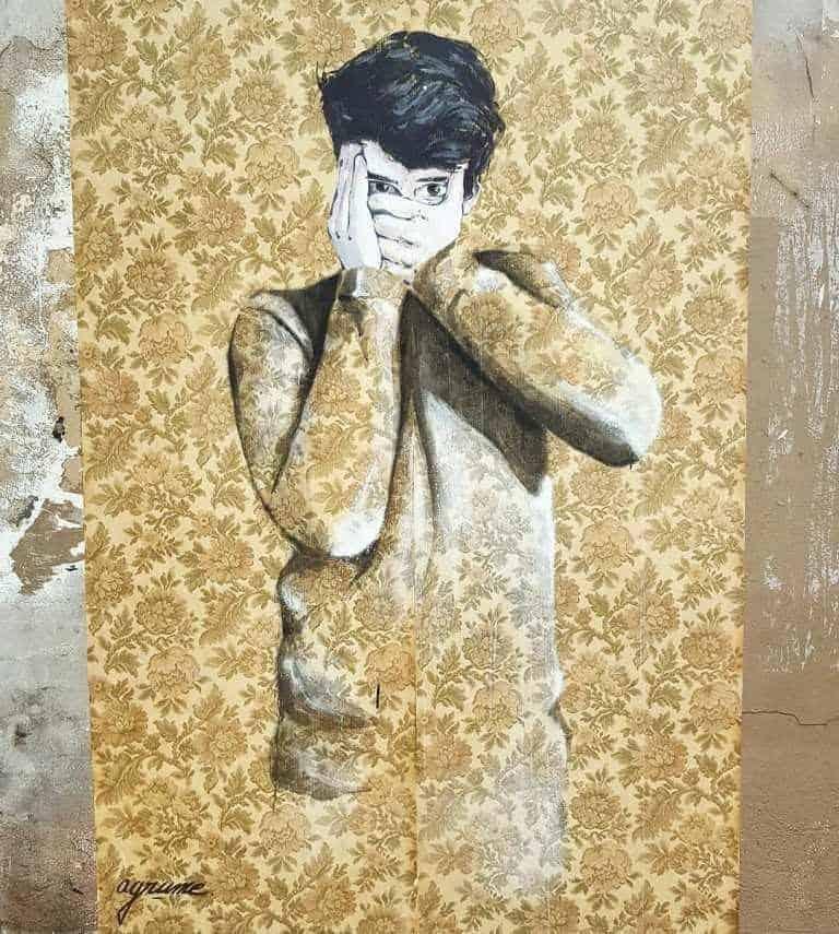 Renouer avec son fantôme – Streetart par Agrume, Paris