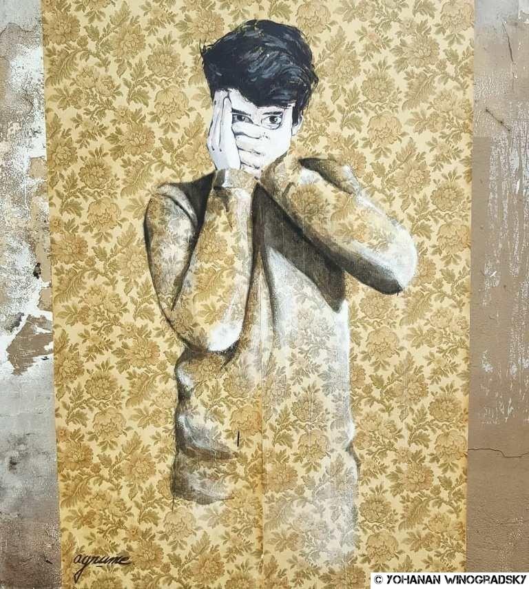 streetart par agrume rue des cascades