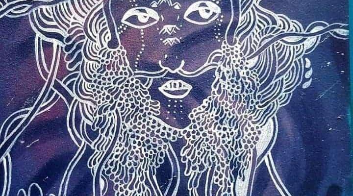 Extrait de «Sapiens» de Yuval Noah Harari : mythes & coopération humaine – Street art par Claire Courdavault, Paris