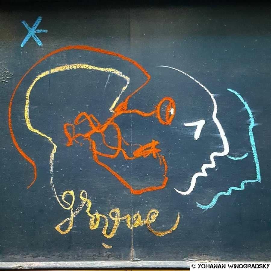 street art par groove rue gramont, citation de pierre boulez