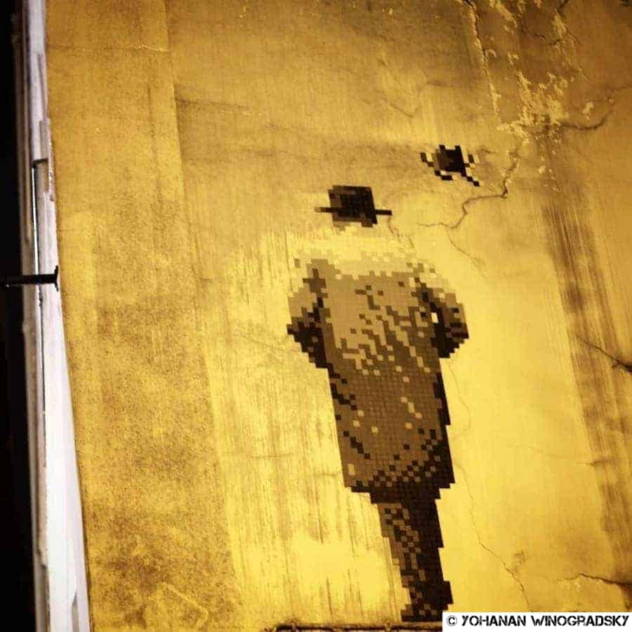 William S. Burroughs – Street art par Invader, Paris