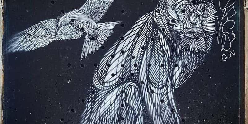 Au Bout du Monde – Streetart par MonkeyBird, Paris