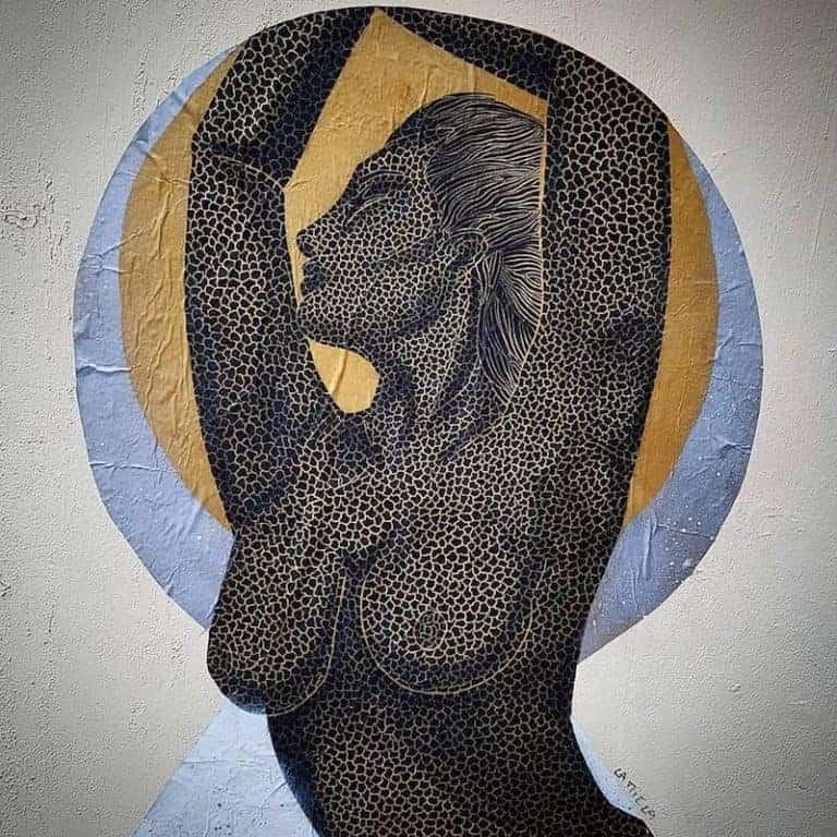 La Danseuse de Cuir – Street art par La Miela, Paris