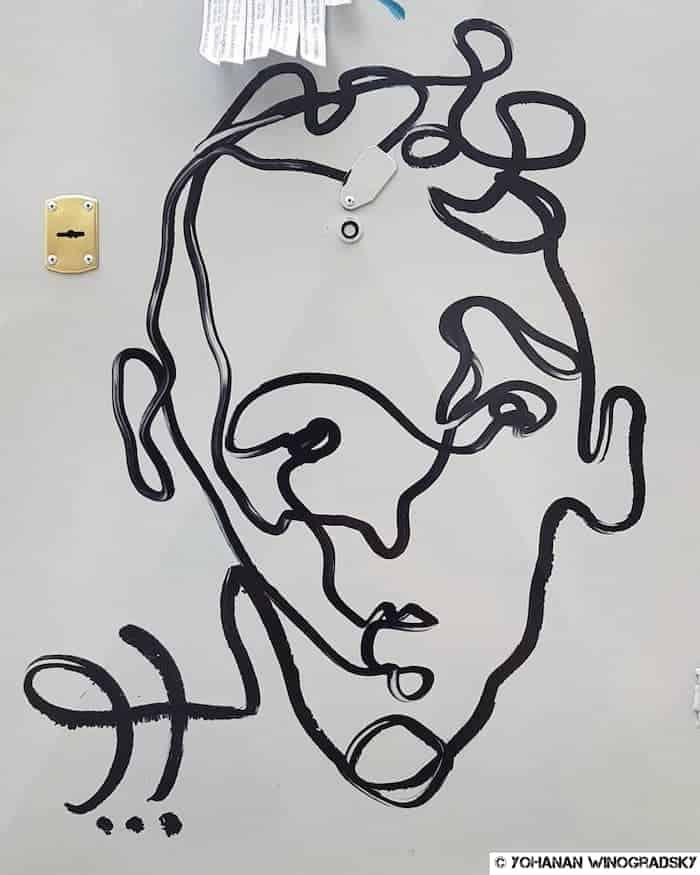 street art à thessalonique en grèce portrait