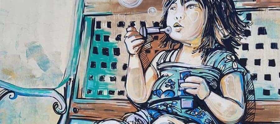 À Françoise – Streetart par Alice Pasquini, Vitry-sur-Seine