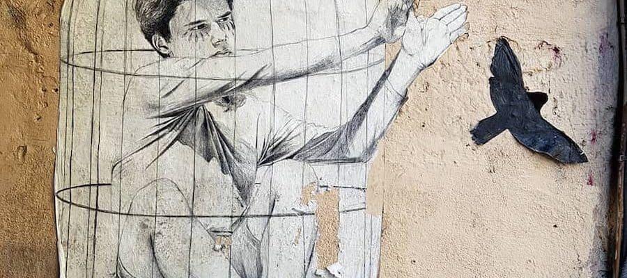 Mon Bel Humain – Streetart par Agrume, Paris