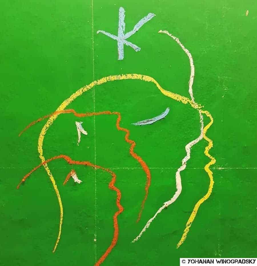 street art paris par groove metro opéra - texte de rené char