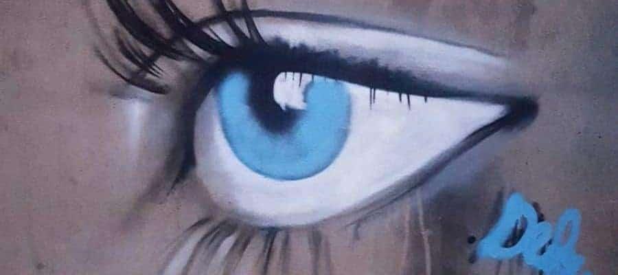 Les Yeux Bleus de Kurt Cobain – Streetart à Paris