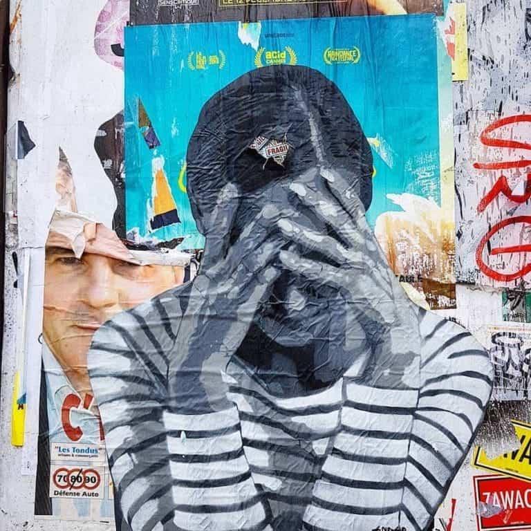 street art paris par ender pour sa série