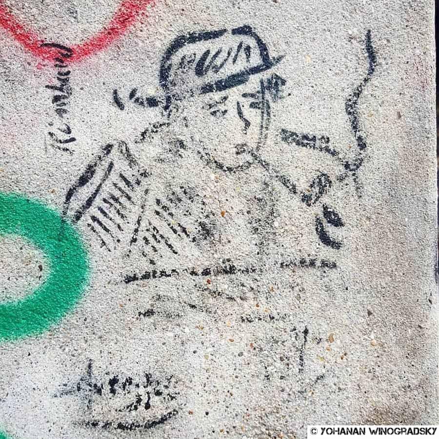 street art paris ariane pasco dessin d'arthur rimbaud par paul verlaine