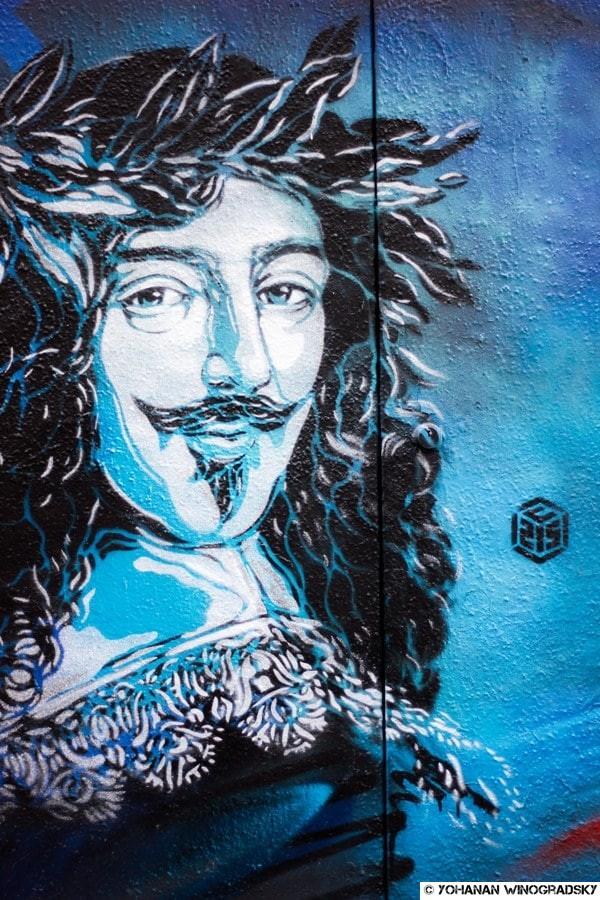 c215 le grand siècle du Marais paris street art louis xiii
