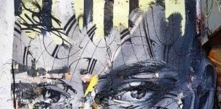 street art paris hopare portrait femme rue chapon